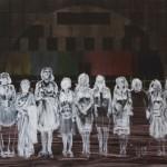 Zhang Hao, ladies, propylene on canvas, 140x100cm, 2012