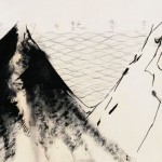 """Wei Qingji, """"Landscape,"""" ink and mixed media on rice paper, 70 x 136cm,2009"""
