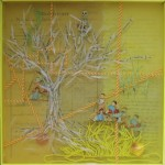 Monika Lin, Memory Boxes 4, found objects, resin, found box, 37 x 11.5 x 10cm, 2014