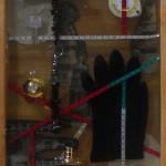 Monika Lin, Memory Boxes 5, found objects, resin, found box, 37 x 11.5 x 10cm, 2014