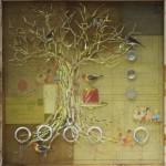 Monika Lin, 记忆的盒子7,收集物品,树脂,收集盒子,37 x 11.5 x 10cm, 2014